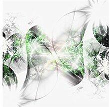 Lana KK Fototapete Vlies Tapete Poster, abstraktes Motiv, grün in 120 x 120 cm - Stars grün -