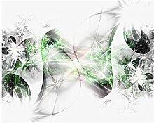 Lana KK Fototapete Vlies Tapete Poster, abstraktes Motiv, grün in 300 x 240 cm - Stars grün -