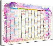Lana KK - Kalender 2015 Bunt - edel Leinwand Bild Jahresplaner Design Kalender, fertig gerahmt in 100x70 cm