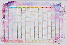 Lana KK - Kalender 2015 Bunt Kork - edel Leinwand Bild Jahresplaner Design Kalender Pinnwand, fertig gerahmt in 60x 40 cm