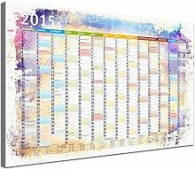 Lana KK - Kalender 2015 Color - edel Leinwand Bild Jahresplaner Design Kalender, fertig gerahmt in 60x 40 cm