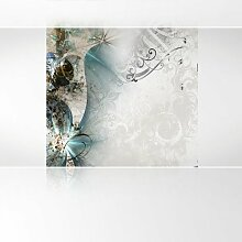 Lana KK Vlies Fototapete Tapete Poster, abstraktes Motiv in 240 x 240 cm - Magic Braun Blau -