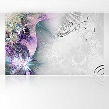 Lana KK Vlies Fototapete Tapete Poster, abstraktes Motiv in 420 x 270 cm - Magic Lila Blau -