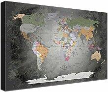 LANA KK Weltkarte Pinnwand Ausführung –