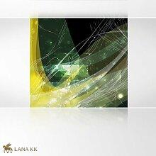 LanaKK - Connect Gelb - Fototapete Poster-Tapete -