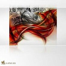 LanaKK - Emotion Curvature Rot - Fototapete