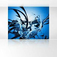 LanaKK - Graf Blau - Fototapete Poster-Tapete - edler Kunstdruck auf Vliestapete mit Stuck Optik in 300x240 cm
