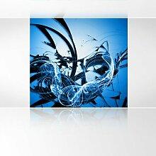 LanaKK - Graf Blau - Fototapete Poster-Tapete - edler Kunstdruck auf Vliestapete mit Stuck Optik in 240x240 cm