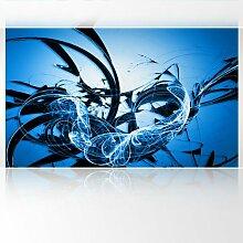 LanaKK - Graf Blau - Fototapete Poster-Tapete - edler Kunstdruck auf Vliestapete mit Stuck Optik in 300x180 cm