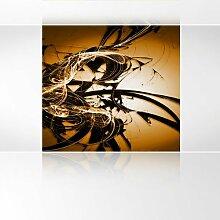 LanaKK - Graf Braun Orange - Fototapete Poster-Tapete - edler Kunstdruck auf Vliestapete mit Stuck Optik in 180x180 cm