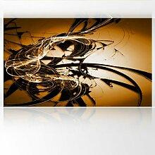 LanaKK - Graf Braun Orange - Fototapete Poster-Tapete - edler Kunstdruck auf Vliestapete mit Stuck Optik in 300x180 cm