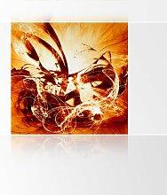 LanaKK - Graf Fire - Fototapete Poster-Tapete - edler Kunstdruck auf Vliestapete in 240x240 cm