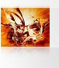 LanaKK - Graf Fire - Fototapete Poster-Tapete - edler Kunstdruck auf Vliestapete in 300x240 cm
