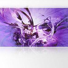 LanaKK - Graf Fire Lila - Fototapete Poster-Tapete - edler Kunstdruck auf Vliestapete in 420x240 cm