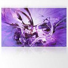 LanaKK - Graf Fire Lila - Fototapete Poster-Tapete - edler Kunstdruck auf Vliestapete in 300x180 cm