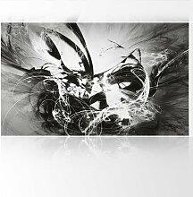 LanaKK - Graf Fire SW - Fototapete Poster-Tapete - edler Kunstdruck auf Vliestapete in 300x180 cm