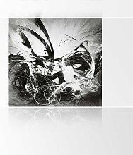 LanaKK - Graf Fire SW - Fototapete Poster-Tapete - edler Kunstdruck auf Vliestapete in 180x180 cm
