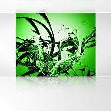 LanaKK - Graf Grün - Fototapete Poster-Tapete - edler Kunstdruck auf Vliestapete mit Stuck Optik in 300x240 cm