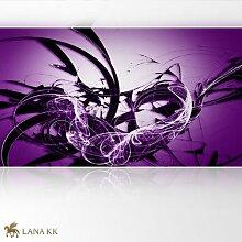 LanaKK - Graf Lila - Fototapete Poster-Tapete - edler Kunstdruck auf Vliestapete in 420x240 cm