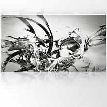 LanaKK - Graf Silver - Fototapete Poster-Tapete - edler Kunstdruck auf Vliestapete mit Stuck Optik in 530x300 cm