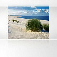LanaKK - Insel Dünen - Fototapete Poster-Tapete - edler Kunstdruck auf Vliestapete mit Stuck Optik in 300x240 cm