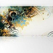 LanaKK - Jungle Drum Braun - Fototapete Poster-Tapete - edler Kunstdruck auf Vliestapete in 420x240 cm