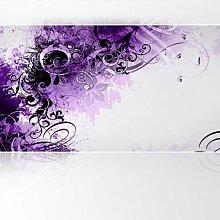 LanaKK - Jungle Drum Lila - Fototapete Poster-Tapete - edler Kunstdruck auf Vliestapete in 420x240 cm