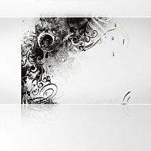 LanaKK - Jungle Drum SW - Fototapete Poster-Tapete - edler Kunstdruck auf Vliestapete mit Stuck Optik in 300x240 cm