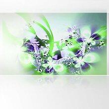 LanaKK - Lightninglight GL - Fototapete Poster-Tapete - edler Kunstdruck auf Vliestapete mit Stuck Optik in 300x180 cm