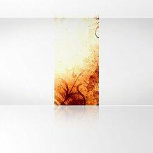 LanaKK - Lines Orange - Fototapete Poster-Tapete - edler Kunstdruck auf Vliestapete in 120x240 cm
