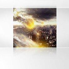 LanaKK - Meteoriten - Fototapete Poster-Tapete - edler Kunstdruck auf Vliestapete in 180x180 cm