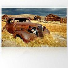 LanaKK - Scheunenfund - Fototapete Poster-Tapete - edler Kunstdruck auf Vliestapete in 300x180 cm