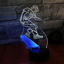 Lanbba Roller Zweifarbiges Visuelles Nachtlicht 3D