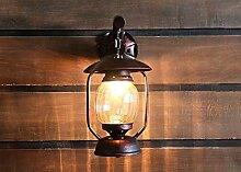 Land Petroleumlampe kreative Coffee Shop Dachboden schmiedeeiserne Wandleuchte