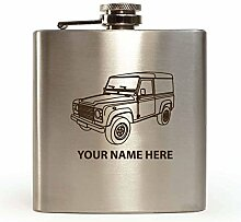 Land Rover Design–personalisierbar Flachmann (mit Geschenk-Box und Trichter)