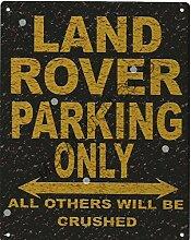 Land Rover Metall Parking Rustikaler Stil den großen 30,5x 40,6cm 30x 40cm Auto Schuppen Dose Garage Werkstatt Art Wand Spiele Raum