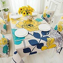 Land Tischdecken/ Baumwolle und Leinen-Stoffe/Tischdecken/ print Garten Tischdecke/ einfache und moderne Couchtisch Tuch-C 140x230cm(55x91inch)