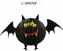 LANDFOX Halloween Ghost Fledermaus Spinne Laterne