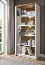 Landhaus-Bücherregal PISA-61 in Pinie weiß und