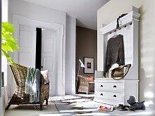 Landhaus Garderobe weiss antik Halifax mit