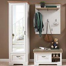 Landhaus Garderobenset mit Spiegelschrank