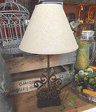 LANDHAUS LAMPE TISCHLAMPE LANDHAUSSTIL METALL
