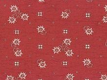Landhaus Möbelstoff Edelweiss Farbe 52 (rot,