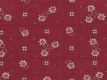 Landhaus Möbelstoff Edelweiss Farbe 56 (rot,