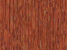 Landhaus Möbelstoff Garmisch Farbe 18 (rot-braun, terra) - modernes Chenille-Flachgewebe (gemustert, gestreift, Fleckerlteppich-Optik) Polsterstoff, Stoff, Bezugsstoff, Eckbank, Couch, Sessel, Hussen, Kissen