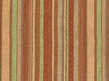Landhaus Möbelstoff Ischgl Farbe 42 (beige, braun, terra, lindgrün) mit biologischem Fleckschutz - modernes Chenille-Flachgewebe (gemustert, gestreift) Polsterstoff, Stoff, Bezugsstoff, Eckbank, Couch, Sessel, Hussen, Kissen