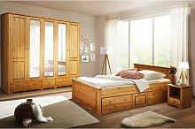 Landhaus Schlafzimmer aus Kiefer Massivholz
