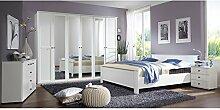 Landhaus Schlafzimmer Set wei 180cm Bett