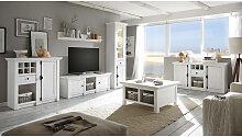 Landhaus-Stil Wohnwand inkl. Sideboard &