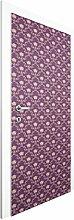 Landhaus Tapete - Vliestapete Tür - No.RS10 Blumenkorb Violett - Tapete Lila - Türtapete , Größe HxB: 215cm x 96cm